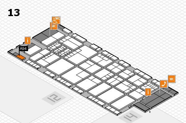 K 2016 hall map (Hall 13): stand A94