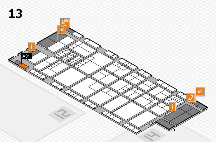 K 2016 Hallenplan (Halle 13): Stand A94