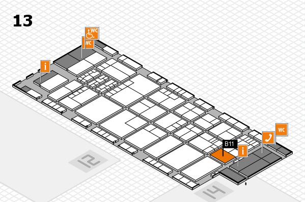 K 2016 hall map (Hall 13): stand B11