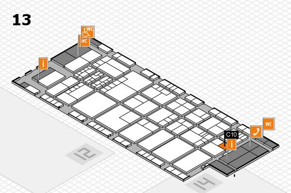 K 2016 hall map (Hall 13): stand C10