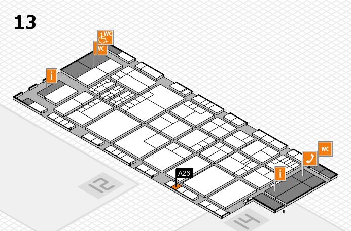 K 2016 Hallenplan (Halle 13): Stand A26