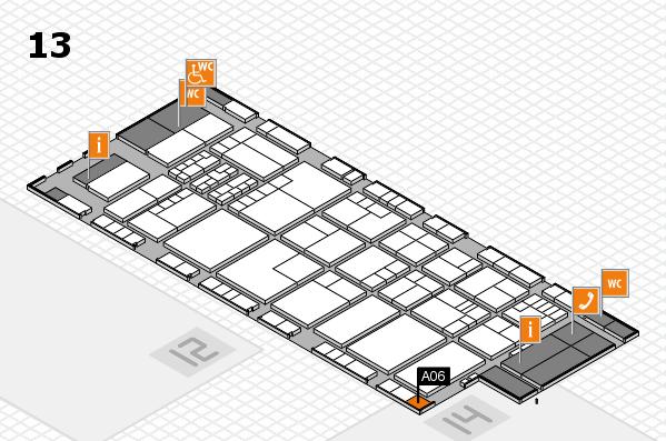 K 2016 hall map (Hall 13): stand A06