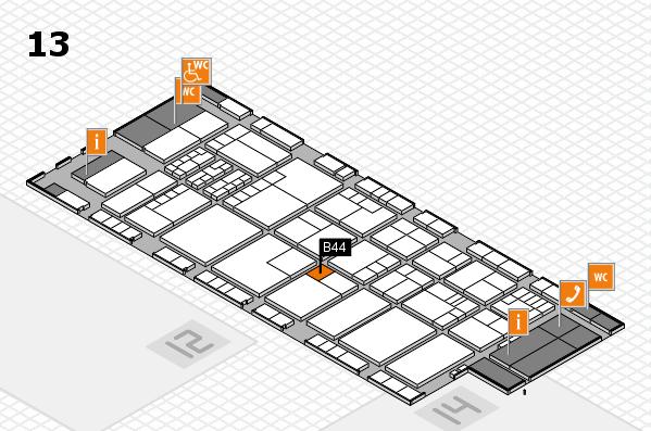 K 2016 Hallenplan (Halle 13): Stand B44
