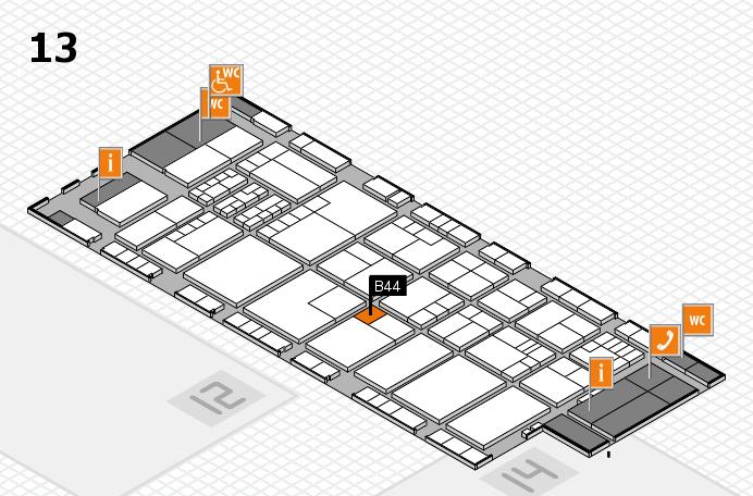 K 2016 hall map (Hall 13): stand B44