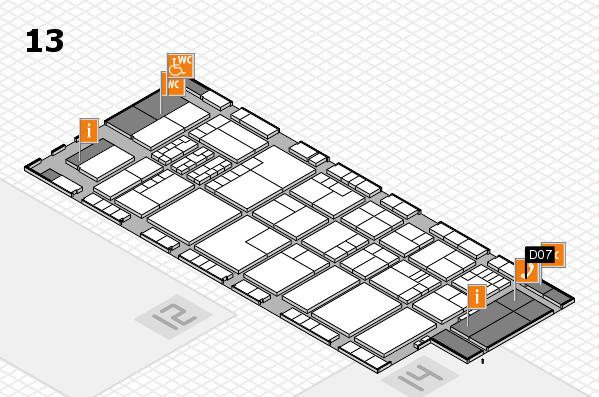 K 2016 hall map (Hall 13): stand D07