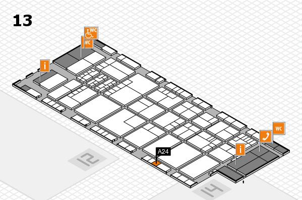 K 2016 hall map (Hall 13): stand A24
