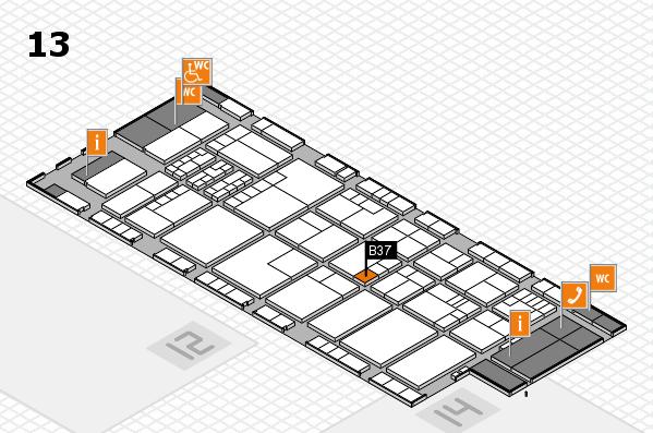 K 2016 Hallenplan (Halle 13): Stand B37