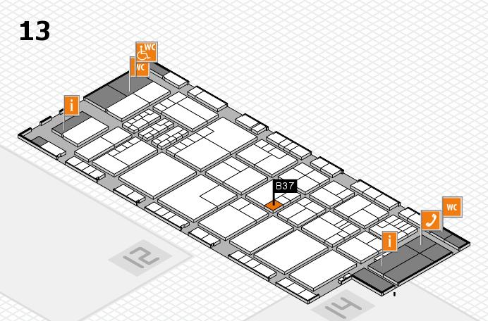 K 2016 hall map (Hall 13): stand B37