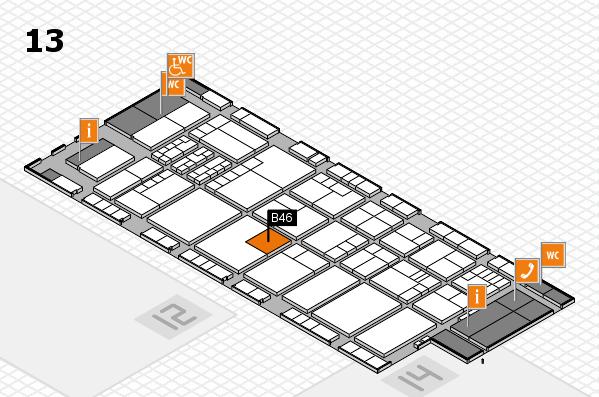 K 2016 Hallenplan (Halle 13): Stand B46