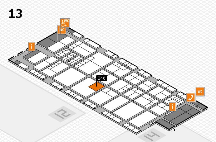 K 2016 hall map (Hall 13): stand B46