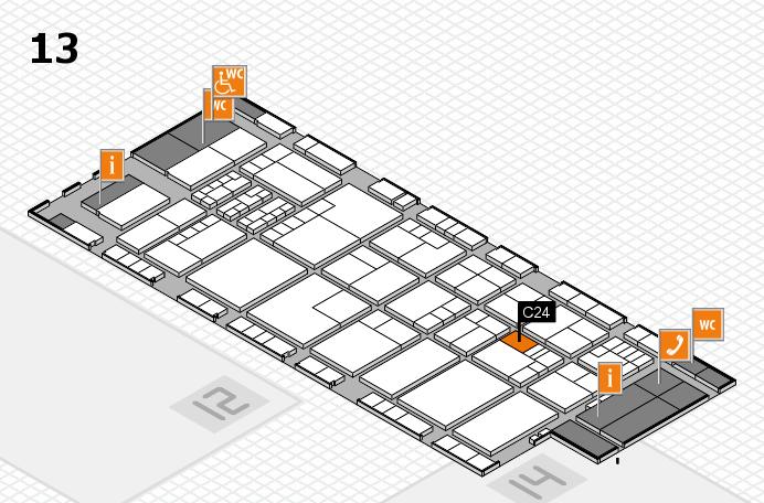 K 2016 hall map (Hall 13): stand C24