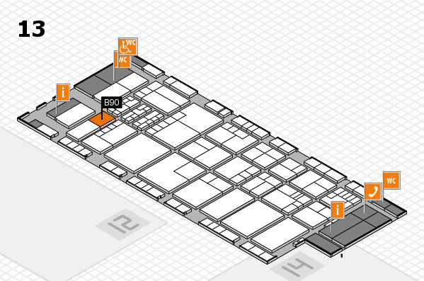 K 2016 Hallenplan (Halle 13): Stand B90