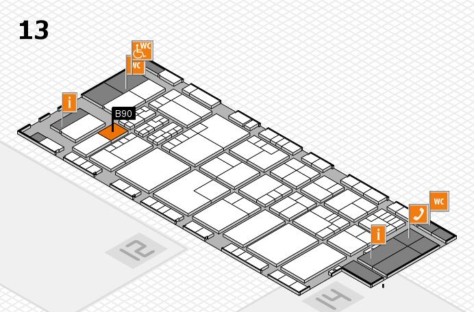 K 2016 hall map (Hall 13): stand B90