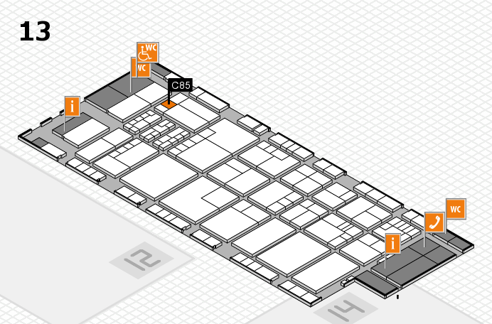 K 2016 hall map (Hall 13): stand C85