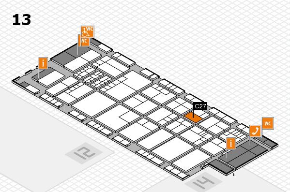 K 2016 hall map (Hall 13): stand C27