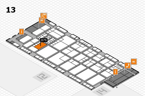 K 2016 hall map (Hall 13): stand B76