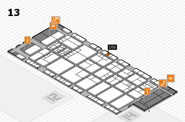 K 2016 hall map (Hall 13): stand D55
