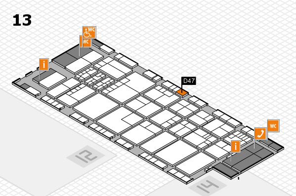 K 2016 hall map (Hall 13): stand D47