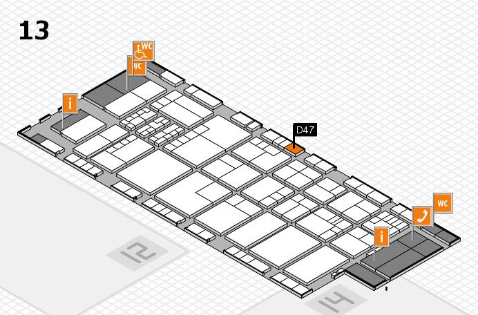 K 2016 Hallenplan (Halle 13): Stand D47