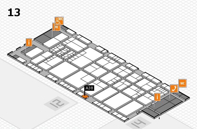 K 2016 Hallenplan (Halle 13): Stand A38