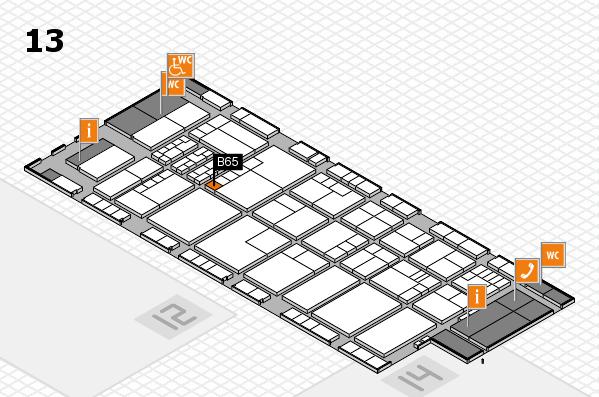 K 2016 hall map (Hall 13): stand B65