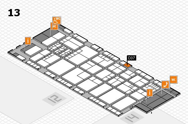 K 2016 hall map (Hall 13): stand D37