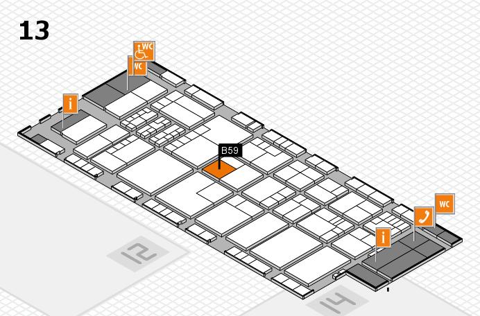 K 2016 hall map (Hall 13): stand B59