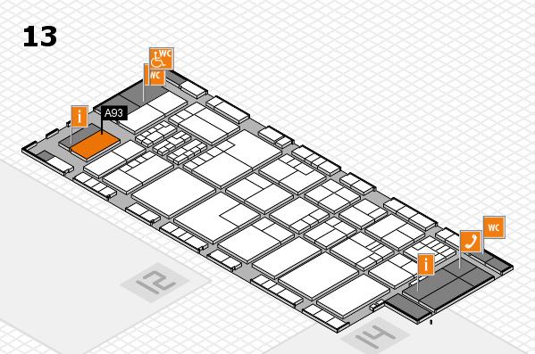 K 2016 hall map (Hall 13): stand A93