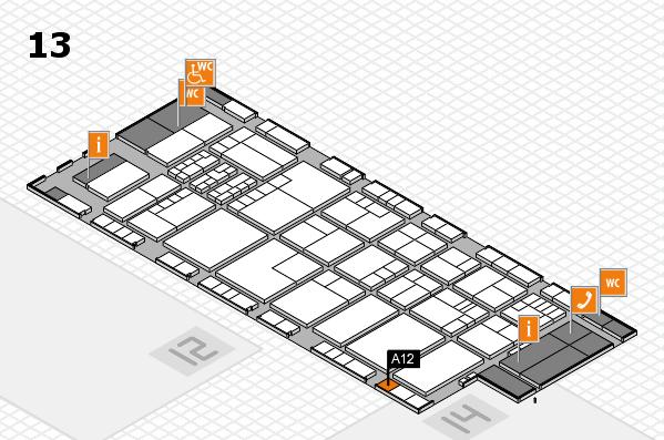 K 2016 hall map (Hall 13): stand A12