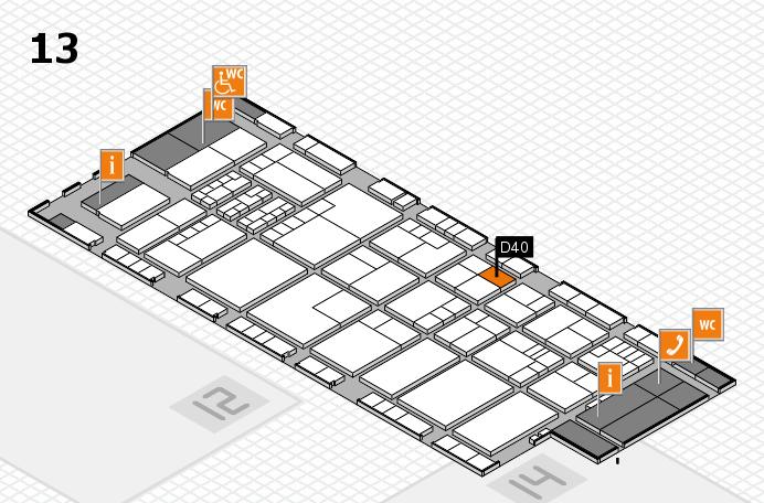 K 2016 Hallenplan (Halle 13): Stand D40
