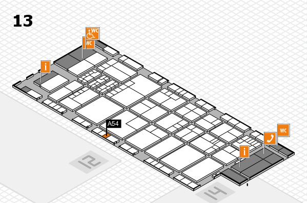 K 2016 hall map (Hall 13): stand A54