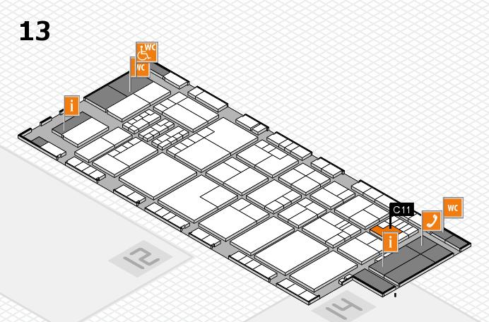 K 2016 hall map (Hall 13): stand C11
