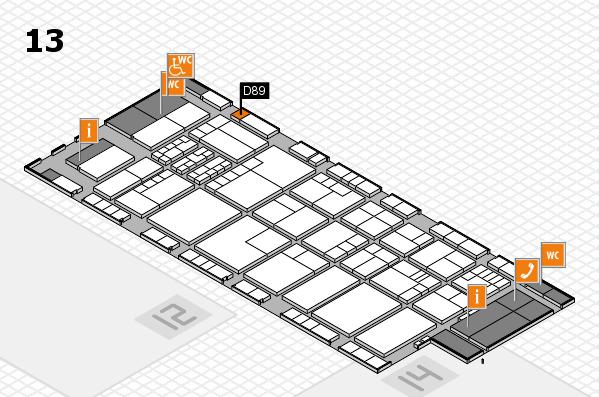K 2016 hall map (Hall 13): stand D89