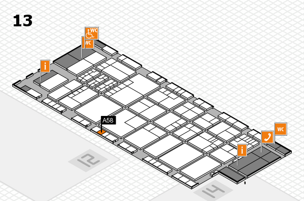 K 2016 Hallenplan (Halle 13): Stand A58