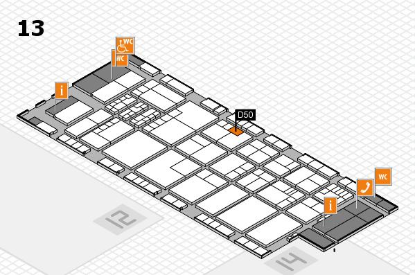 K 2016 Hallenplan (Halle 13): Stand D50