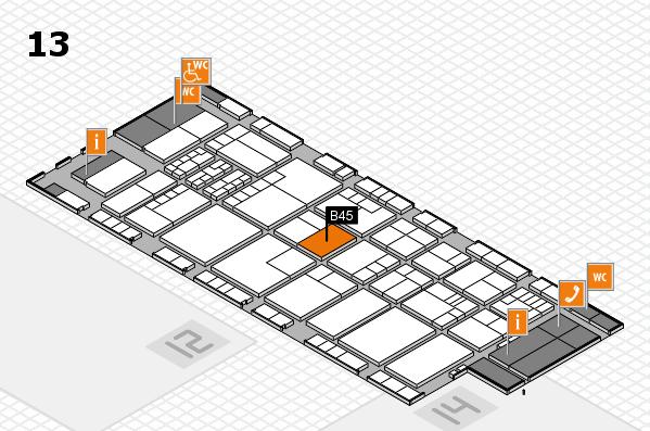K 2016 Hallenplan (Halle 13): Stand B45