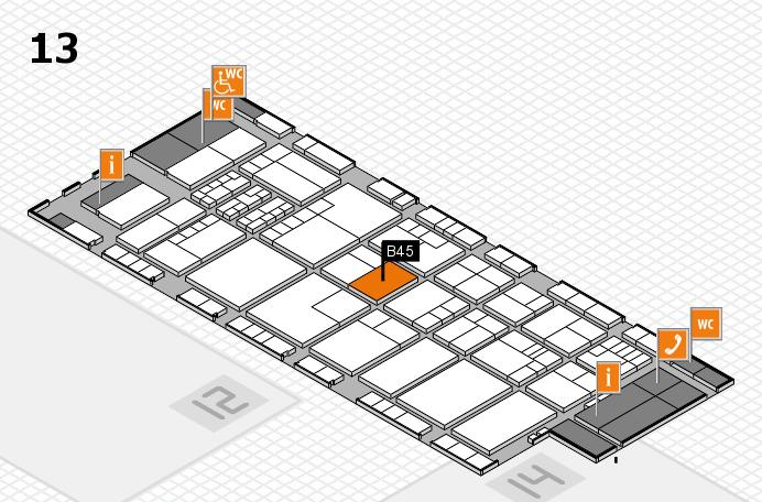 K 2016 hall map (Hall 13): stand B45