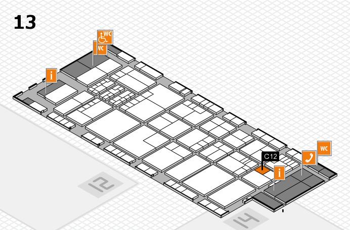K 2016 hall map (Hall 13): stand C12