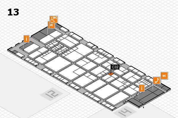 K 2016 hall map (Hall 13): stand C32
