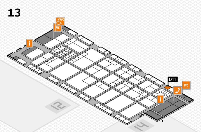 K 2016 hall map (Hall 13): stand D11
