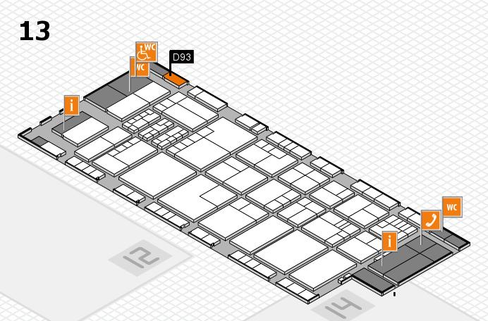 K 2016 hall map (Hall 13): stand D93