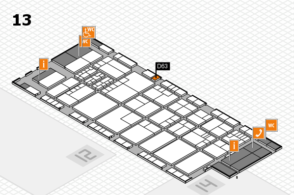 K 2016 hall map (Hall 13): stand D63
