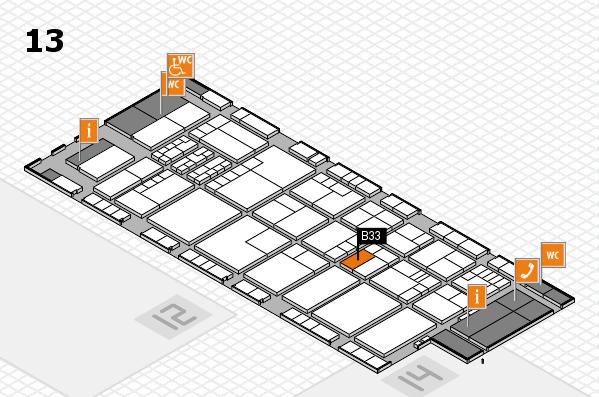 K 2016 Hallenplan (Halle 13): Stand B33