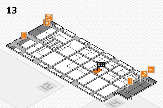 K 2016 hall map (Hall 13): stand B33