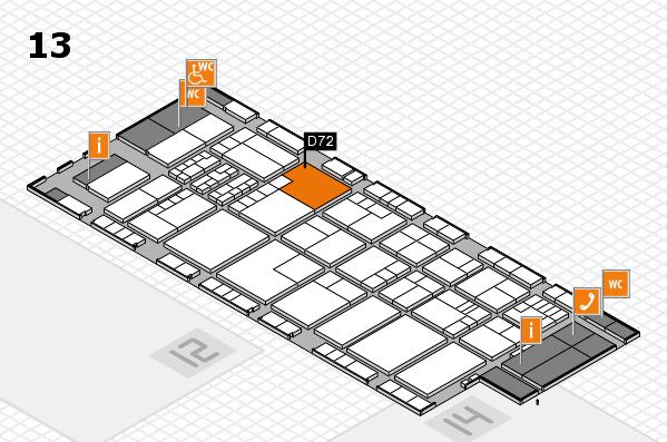K 2016 Hallenplan (Halle 13): Stand D72