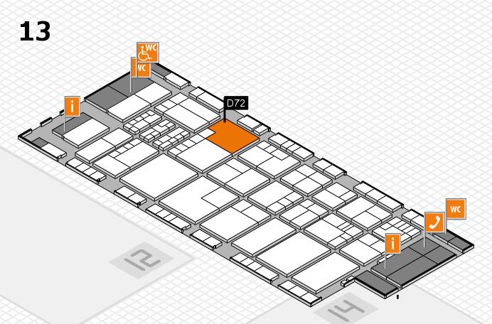 K 2016 hall map (Hall 13): stand D72