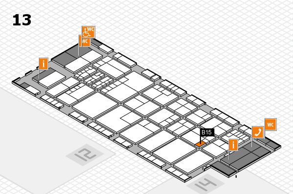 K 2016 hall map (Hall 13): stand B15