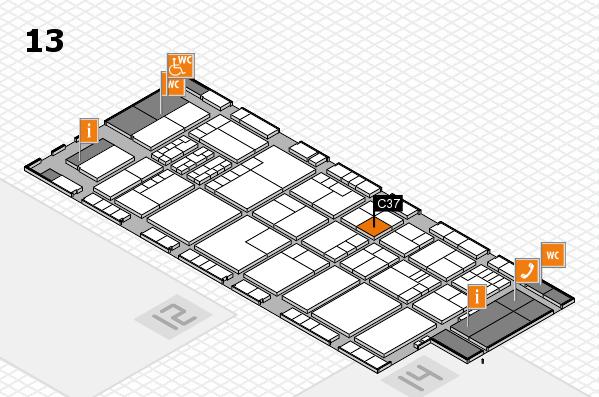K 2016 hall map (Hall 13): stand C37