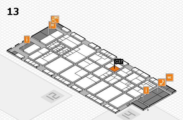 K 2016 Hallenplan (Halle 13): Stand C37