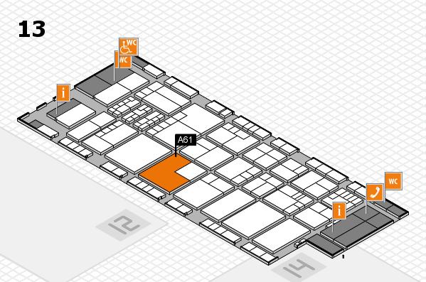 K 2016 hall map (Hall 13): stand A61